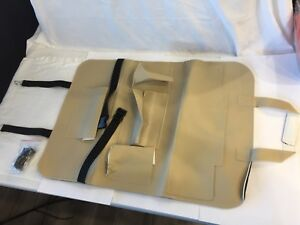 Palmoo Beige Leather Back Seat Car Organizer W Clip And Straps