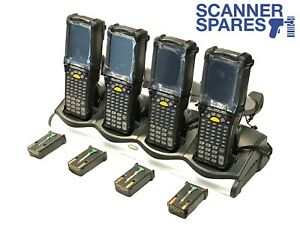 Lot Of 4 Symbol Motorola Mc9090 gf0hjjfa6wr 5250 1d Wm5 Barcode Scanner