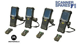 Lot Of 4 Motorola Mc9090 gf0hjgfa6wr 1d Laser Wm 5 Barcode Scanner Vt Emulation
