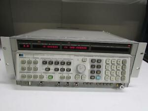 Agilent Hp 8340a Syn Sweep Signal Generator 10mhz To 26 5ghz Opt 005 006 007
