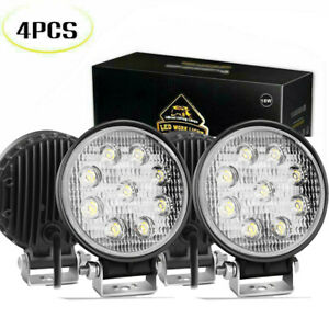 4p Pods Led Work Light Spot Lights For Truck Off Road Tractor 12v 24v Square
