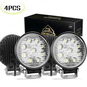4p Pods Led Work Light Flood Lights For Truck Off Road Tractor 12v 24v Square