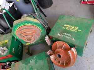 Used Greenlee 555 Conduit Bender With Imc Rigid Shoe Group Sets