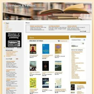 Literature Fiction Online Book Store Business Website For Sale Free Domain Name
