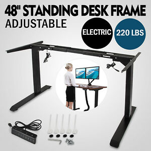 Electric Standing Desk Frame Sit Stand Table Ultra quiet Black Multi motors