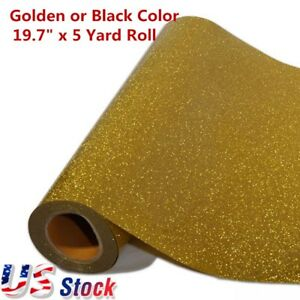 Us Stock 19 7 X 5 Yard Roll Glitter Heat Transfer Vinyl Golden Color Wholesales