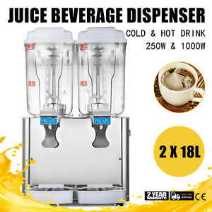 36l Commercial Juice Beverage Dispenser Cold And Hot Drink Fruit Ice Tea Juicer