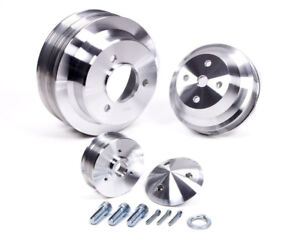 March Performance 7330 Aluminum Bbc Serpentine High Water Flow Pulley Kit
