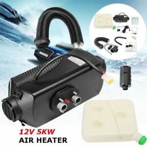 5kw 12v Air Diesel Heater Planar Vent Duct For Car Truck Motor homes Boat Bus Us
