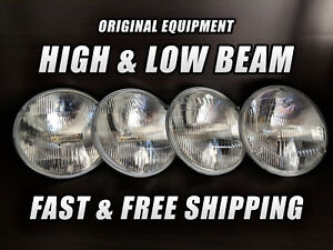 Oe Front Halogen Headlight Bulb For Plymouth Roadrunner 1968 74 High Low Beam X4