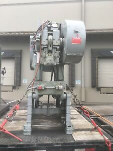 Rousselle Model 3f 25 Ton Deep Throat O b i Punch Press W Air Clutch Dual Palm