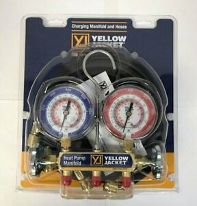 Yellow Jacket 42044 Heat Pump Manifold 60 Hoses R 22 407c 410a