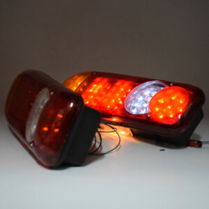 Pair Of Bus Truck Trailer Stop Tail Reverse Lights Indicator Fog Light Universal