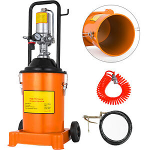 3 Gallon Grease Injector Pump Air Operated High pressure 13ft Hose Grease Bucket