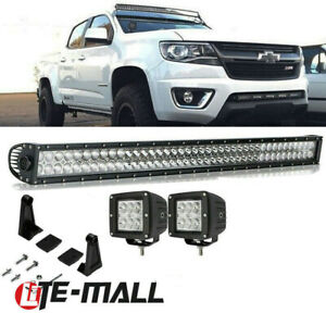 40 42 Inch Curved Led Light Bar Combo For 2002 2014 Chevy Colorado Upper Roof
