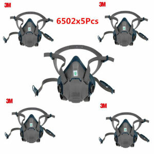 5pc 3m 6502 Respirator Painting Spraying Face Half Gas Mask High Quality