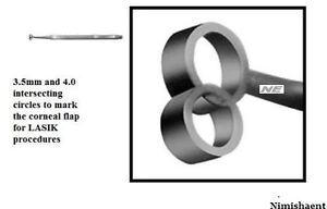 Stainless Steel Gulani Lasik Marker 3 5mm And 4mm To Mark Intersecting Circles