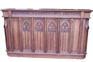 Wonderful Unique French Gothic Counter Oak