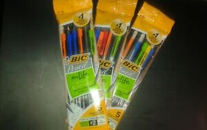 Bic Mechanical 2 Pencils Xtra Life 0 7mm Assorted Colors 4 Packs 20 Total