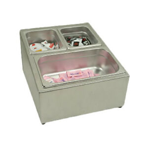 Thunder Group Slfc002 Stainless Steel 3 Compartment Condiment Packet Holder