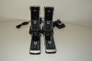 Lot Of 4 Yealink W52p Cordless Handset Lot Of 2 Handset Chargers