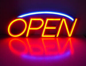 Led Neon Open Sign 23 X 9 Superbright Flashes Energy Efficient Premier