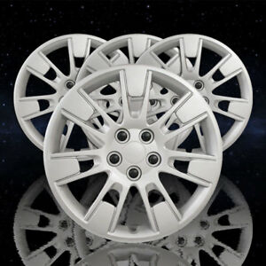 Auto Reflections Silver 14 Spoke 16 Wheel Covers For 2014 2018 Toyota Corolla