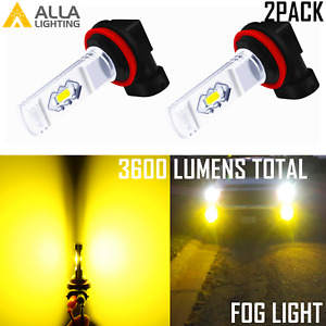 Allalighting H11 Led Driving Fog Light Bulb 3000k Bright Yellow Replacement Lamp