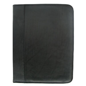 Piel Three ring Binder Black Business Accessorie New
