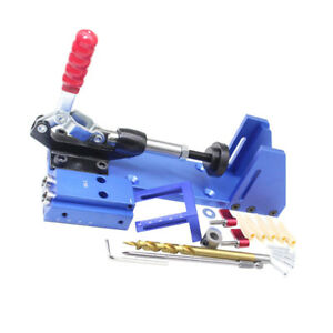 Pocket Hole Jig Mini Kit Machine System With Step Drill Bit With Wrench Kit