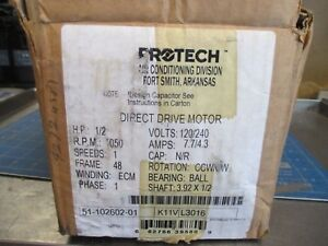 New Protech Products 1 2hp 120 240 1050rpm 48 Motor Oem 51 102602 01 New