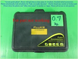 Fluke 63 Ir Thermometer In Case As Photo Sn xxxx For Part Not Working