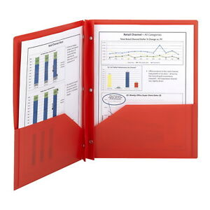 Smead Poly Two pocket Folder Red Pack Of 25