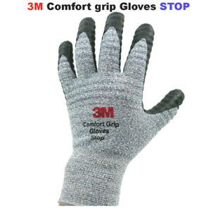 1 10pairs 3m Comfort Grip Stop Safety Maintenance Construction Work Gloves