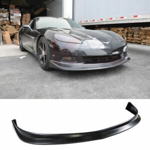 Front Bumper Lip Splitter Spoiler Air Dam Body Kit For 05 13 Chevy Corvette C6
