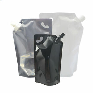 New Reusable Drink Wine Beverage Pouch Packaging Bags comes With 1 Funnel
