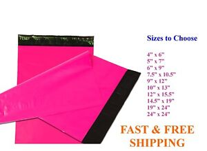 5 10 000 Poly Mailers Shipping Envelopes Sealing Hot Pink Plastic Mailing Bags