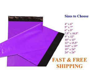 5 10 000 Poly Mailers Shipping Envelopes Sealing Purple Plastic Mailing Bags