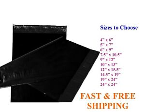 5 10 000 Poly Mailers Shipping Envelopes Sealing Black Plastic Mailing Bags