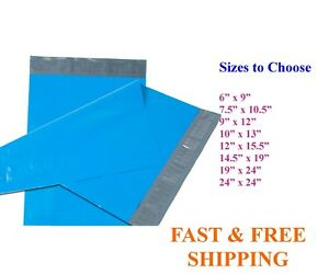 5 10 000 Poly Mailers Shipping Envelopes Self Sealing Blue Plastic Mailing Bags