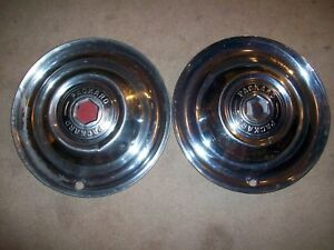 1952 1953 Packard Clipper 2 15 Hubcaps Wheel Covers 52 53