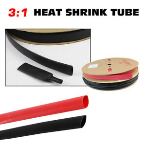 Red black Heat Shrink Tubing Sleeve 3 1 Ratio Dual Wall Electric Cable Wire Wrap
