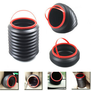 Car Auto Garbage Can Trash Can Garbage Dust Case Portable Foldable Wastebasket