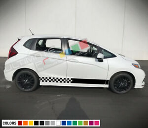 Sticker Decal Vinyl Side Door Stripes For Honda Fit 2016 2018 Racing Part