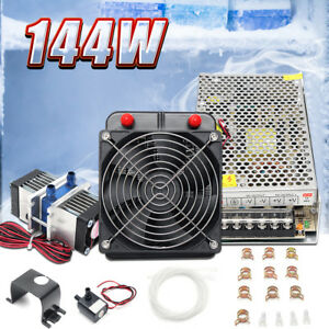 Dual Chip Thermoelectric Cooler Peltier Refrigeration Cooling System pump pipe