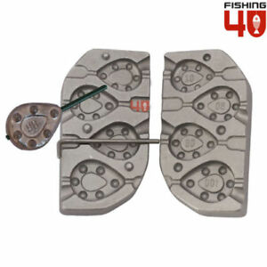 InLine Flat Grip 708090100g Lead Weight Mould Ideal for CarpLedgeringRiver $39.00