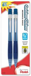 Quicker Clicker Mechanical Pencil 0 7mm Tinted Blue Barrel 2 pk
