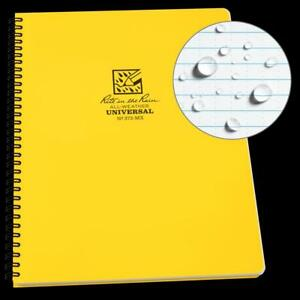 Rite In The Rain All weather Side spiral Notebook 8 1 2 X 11 Yellow