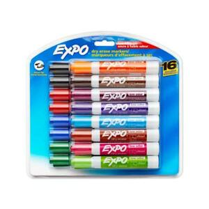 Expo Low Odor Dry Erase Markers Chisel Tip Assorted Colors 16 Pack