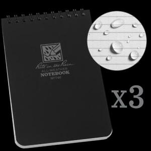 Rite In The Rain All weather Top spiral Notebook 4 X 6 Black Cover